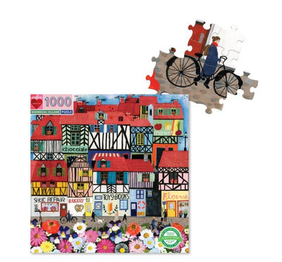 Eeboo 1000pc Puzzle - Whimsical Village