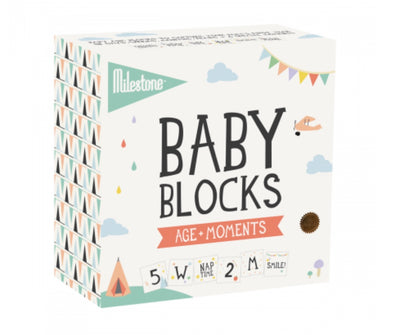 Milestone Baby Blocks Age + Moments