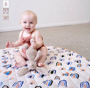 Play Mat - Ochre Rainbow