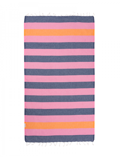 Hammamas Turkish Towel Clash Watemelon & Navy