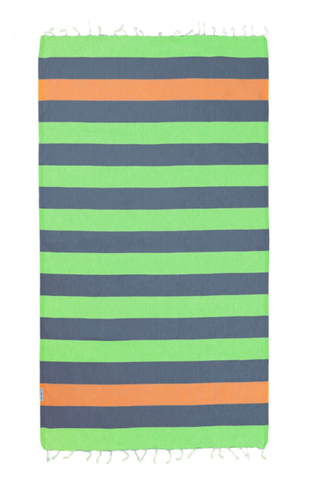 Hammamas Turkish Towel Clash  Guppy/Navy/Orange