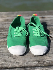 Hammill & Co Washed Canvas Sneaker - Green