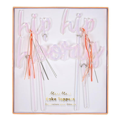Meri Meri Hip Hip Hooray Cake Topper
