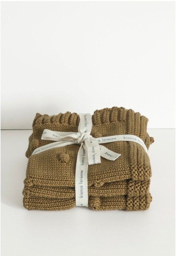 Fronzolo Washcloths set/3 - Dark Ochre
