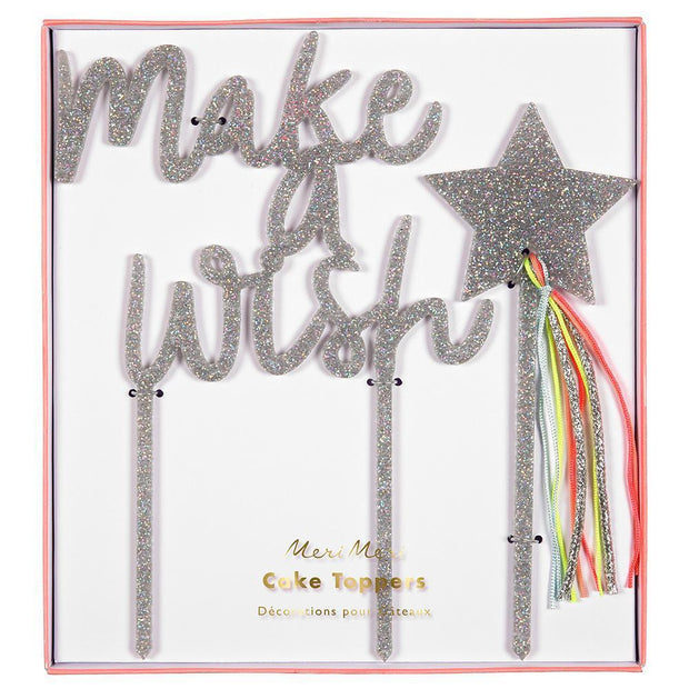 Meri Meri Make a Wish Acrylic Topper