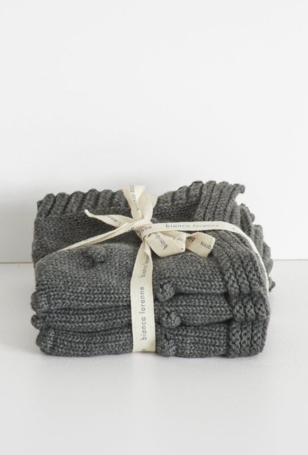 Fronzolo Washcloths set/3 - Charcoal
