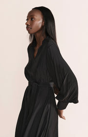 Layerd Samman Dress - Coal