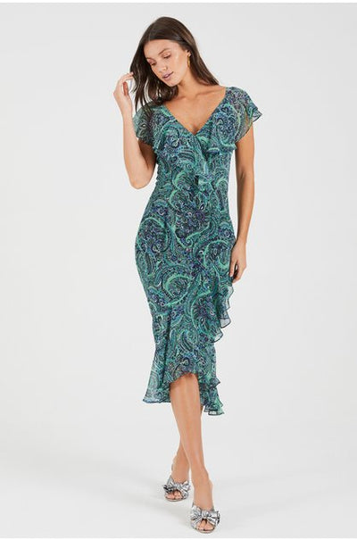 Fleetwood Frill Sleeve Midi Dress