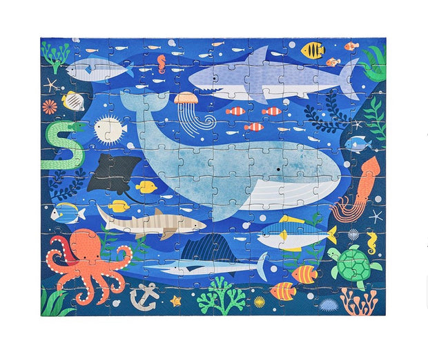 Double Sided on the Go Puzzle - Under the Sea