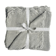 Alimrose Moss Stitch Blanket - Grey