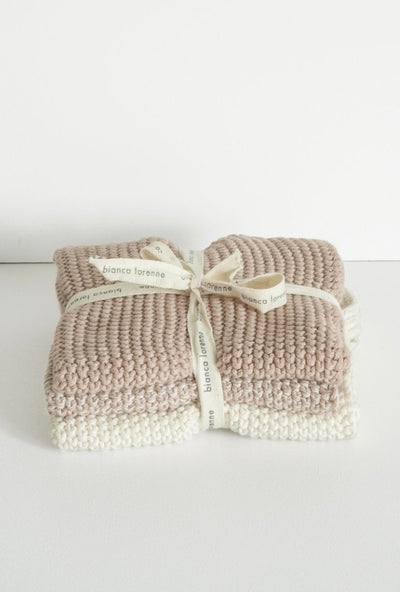 Lavette Washcloths set/3 - Petal