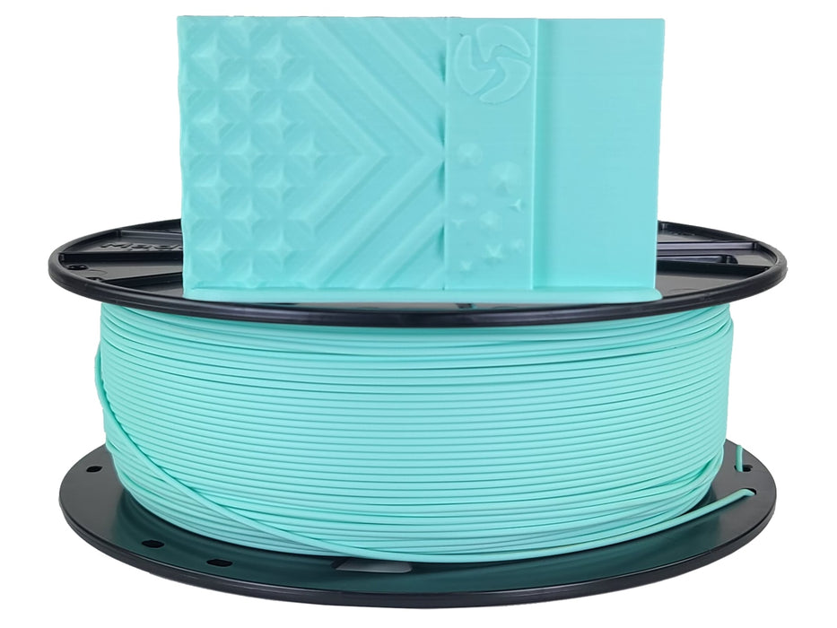 3D-Fuel PLA Aquamarine Horizontal Spool with Print Sample 1.75mm