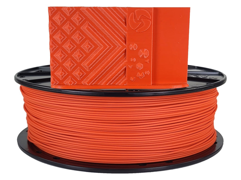 3D-Fuel PLA Autumn Orange Horizontal Spool with Print Sample  1.75mm