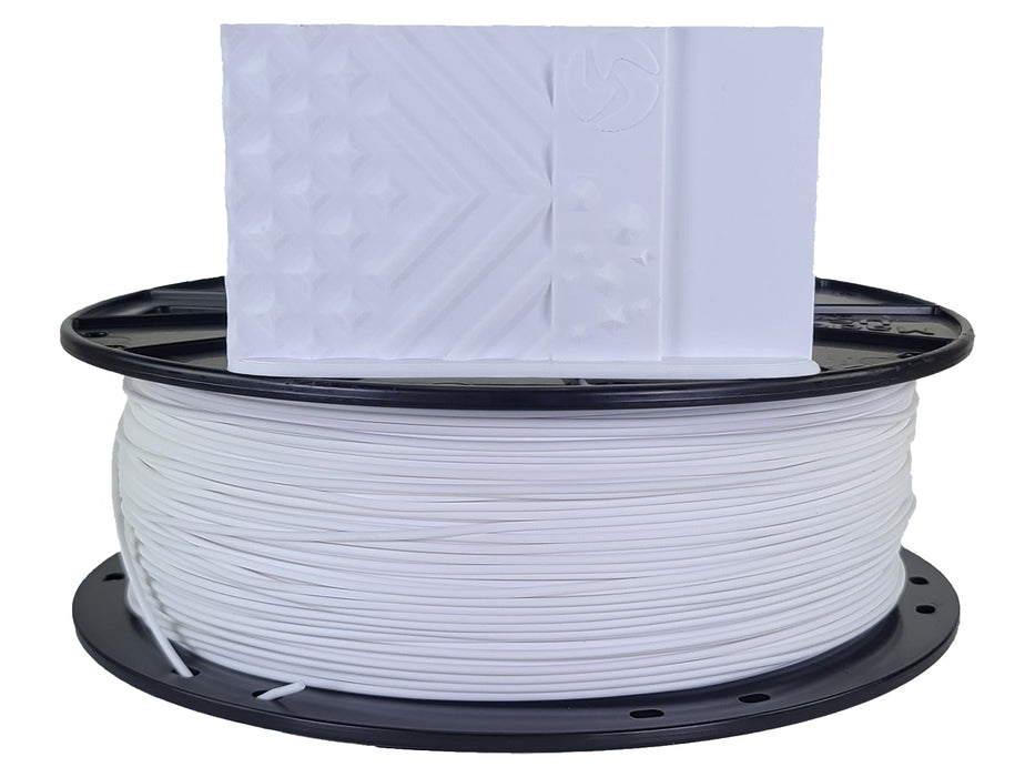 3D-Fuel PLA Brightest White Horizontal Spool with Print Sample 1.75mm