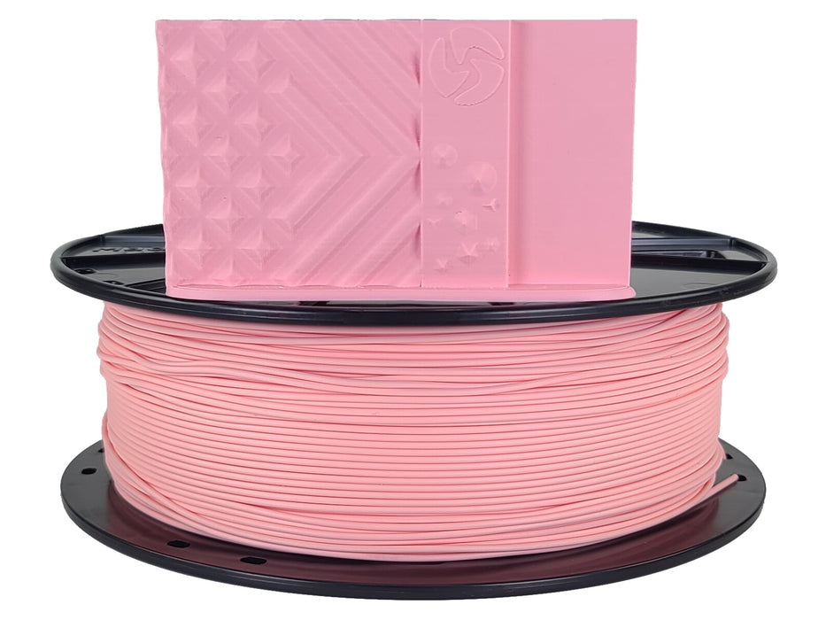 3D-Fuel PLA Bubblegum Pink Horizontal Spool with Print Sample  1.75mm