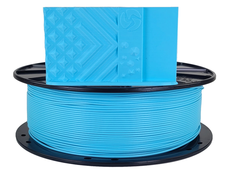 3D-Fuel PLA Electric Blue Horizontal Spool with Print Sample 1.75mm