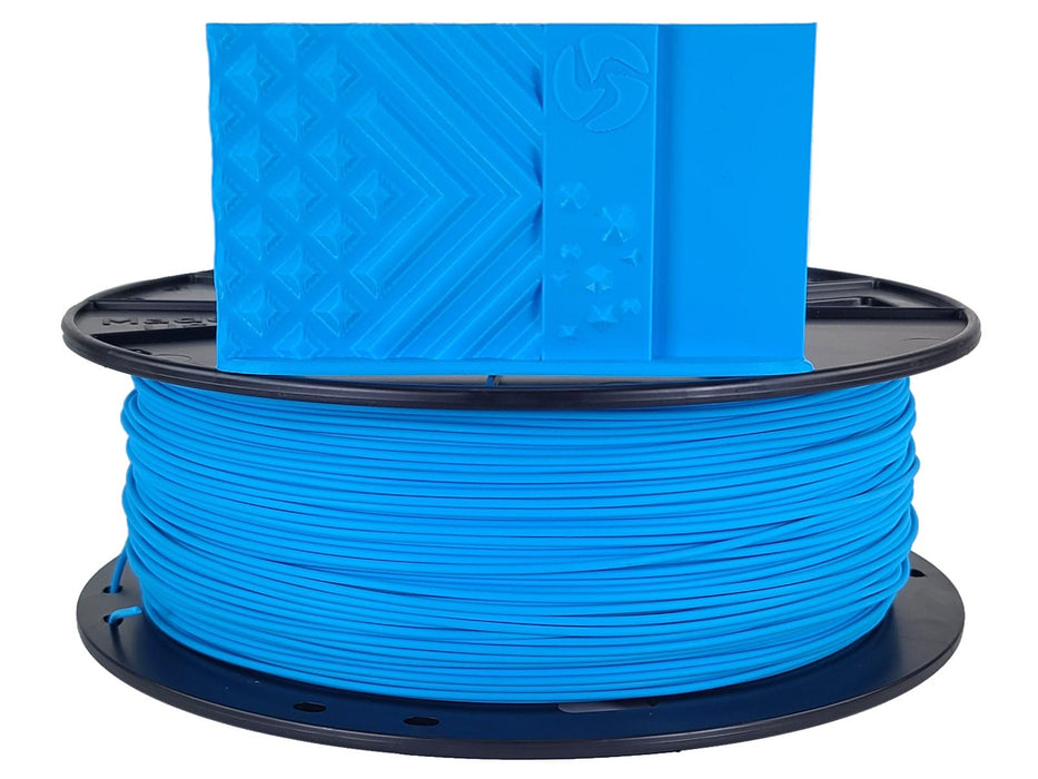 3D-Fuel PLA Fjord Blue Horizontal Spool with Print Sample 1.75mm