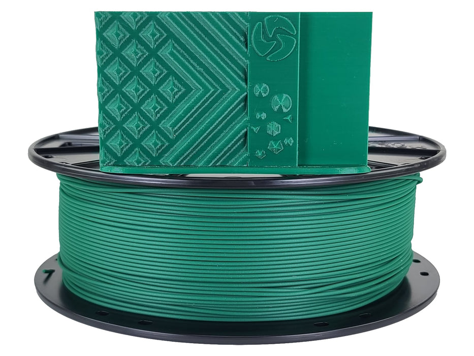 3D-Fuel PLA Forest Green Horizontal Spool with Print Sample 1.75mm