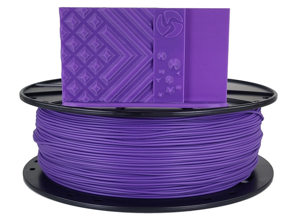 3D-Fuel PLA Grape Purple Horizontal Spool with Print Sample 1.75mm