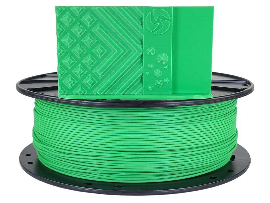 3D-Fuel PLA Grass Green Horizontal Spool with Print Sample  1.75mm