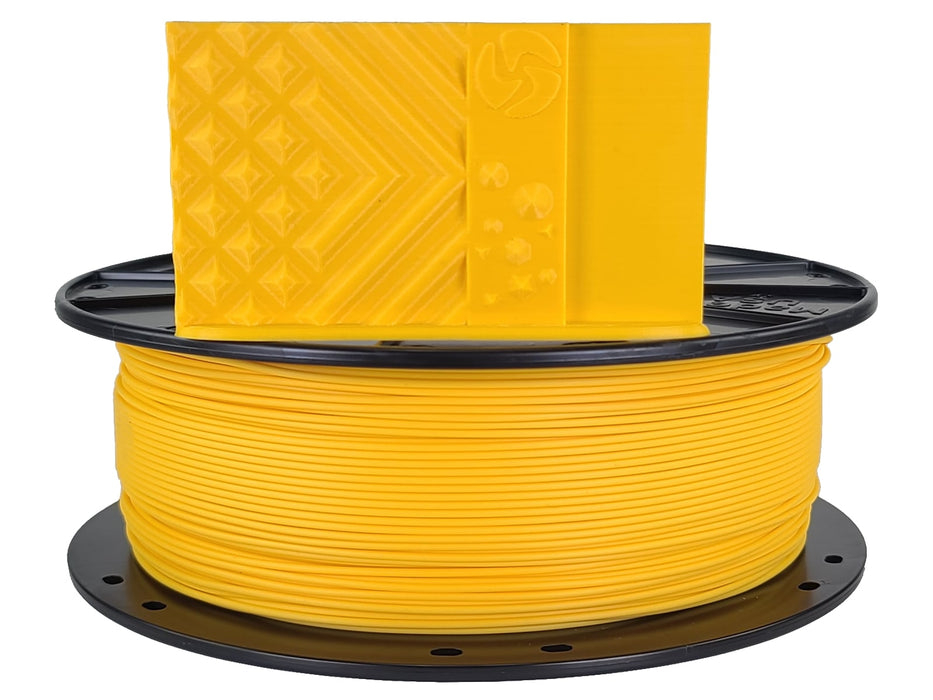 3D-Fuel PLA Harvest Gold Horizontal Spool with Print Sample 1.75mm