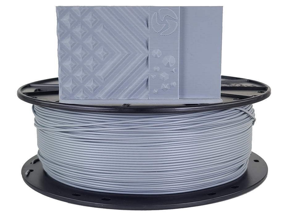 3D-Fuel PLA Industrial Gray Horizontal Spool with Print Sample 1.75mm