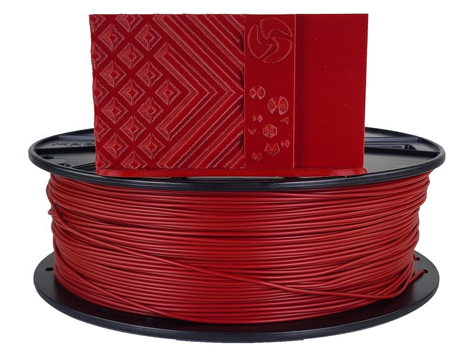 3D-Fuel PLA Iron Red Horizontal Spool with Print Sample 1.75mm
