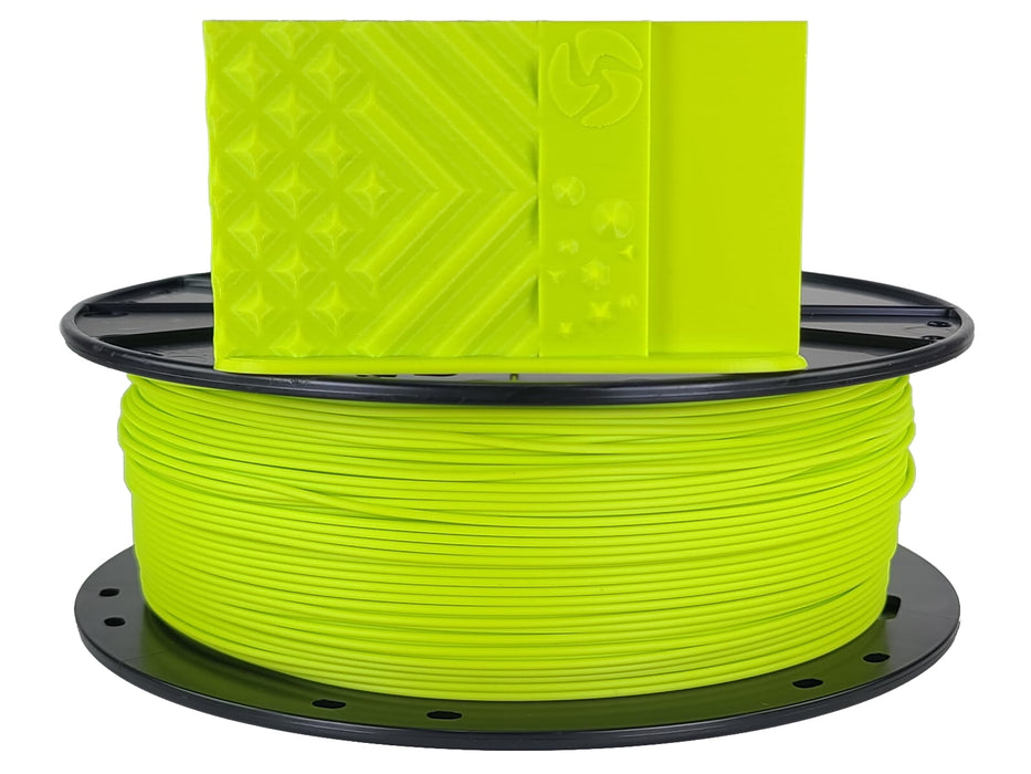 3D-Fuel PLA Lulzbot Green Horizontal Spool with Print Sample  1.75mm
