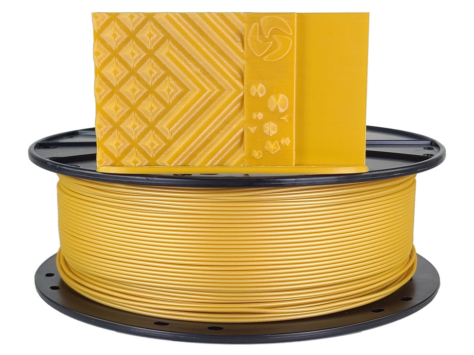 3D-Fuel PLA Metallic Gold Horizontal Spool with Print Sample 1.75mm