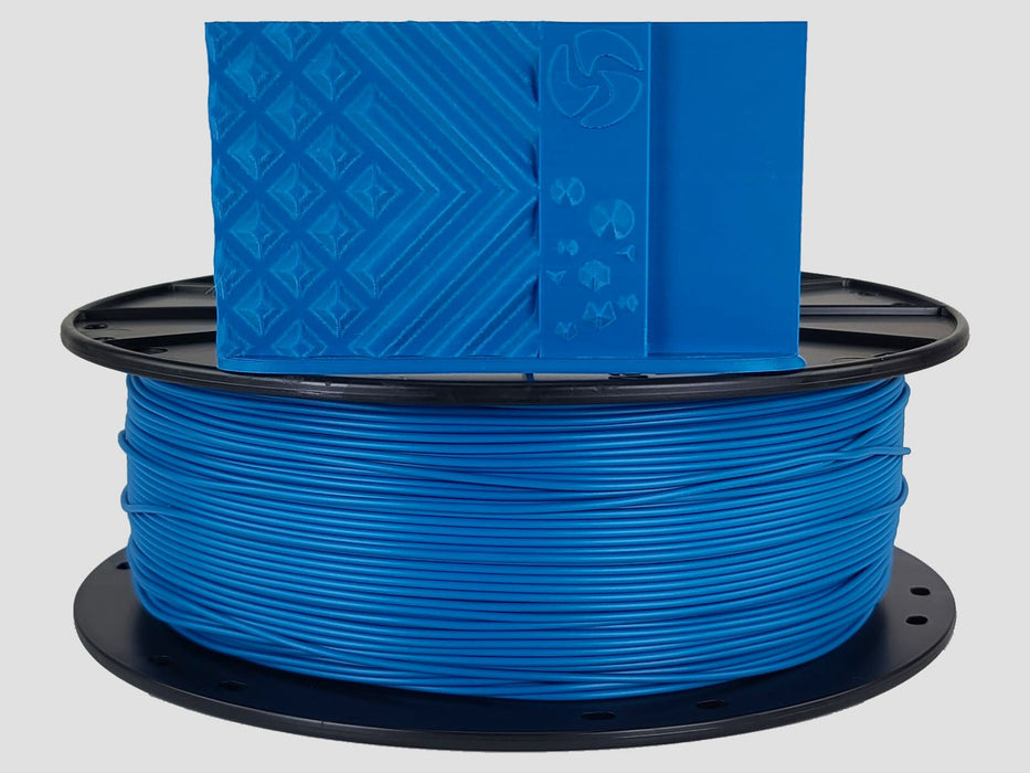 3D-Fuel PLA Ocean Blue Horizontal Spool with Print Sample 1.75mm