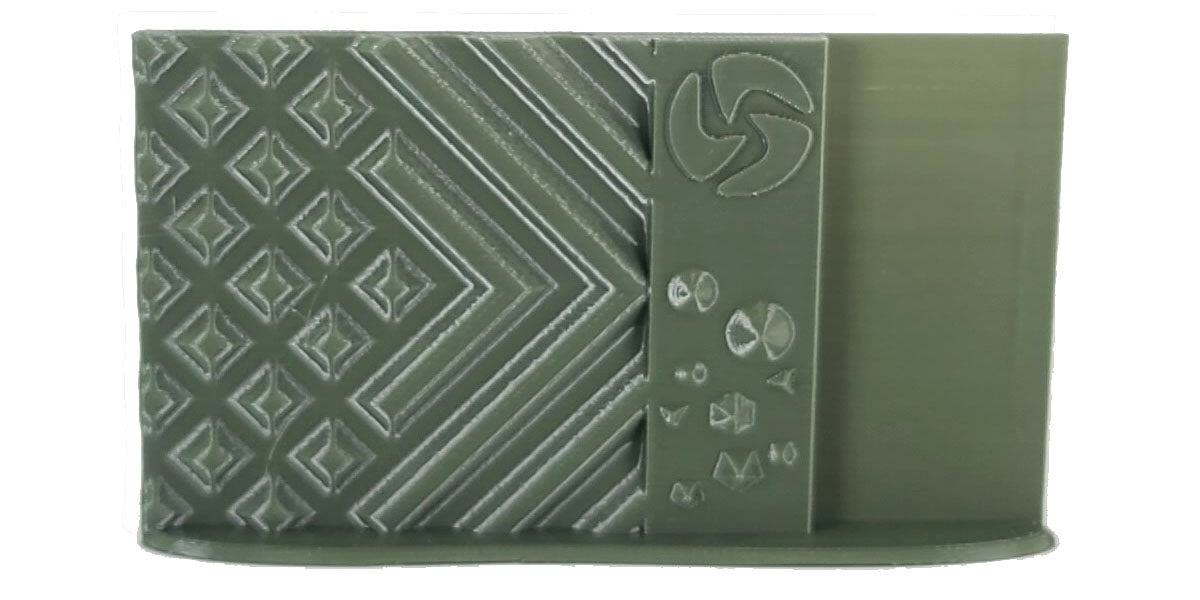 3D-Fuel PLA Olive Green Print Sample 1.75mm