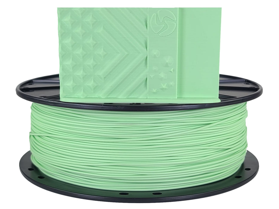 3D-Fuel PLA Pistachio Green Horizontal Spool with Print Sample 1.75mm