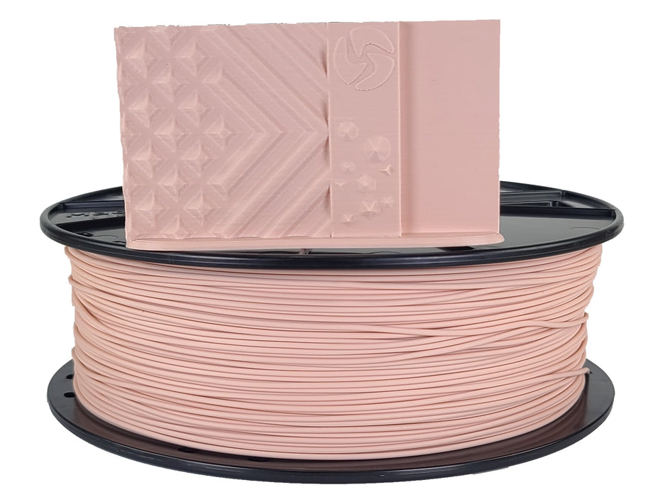 3D-Fuel PLA Warm Bisque Horizontal Spool with Sample Print  1.75mm
