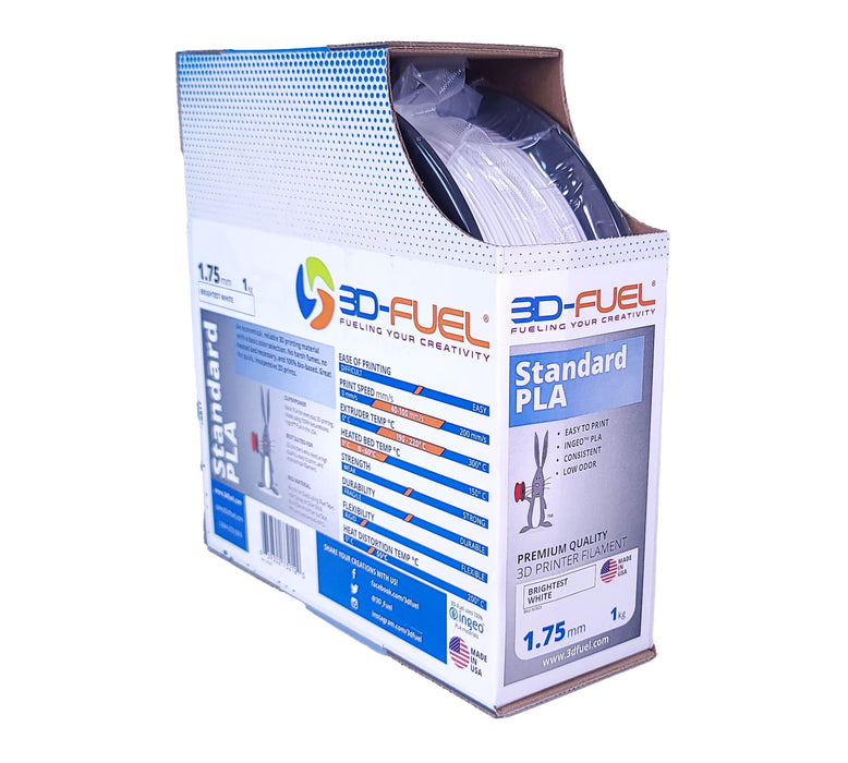 3D-Fuel Standard PLA Brightest White in Box