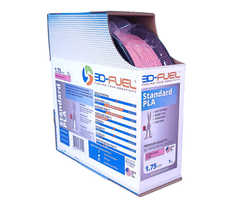 3D-Fuel Standard PLA Bubblegum Pink in Box