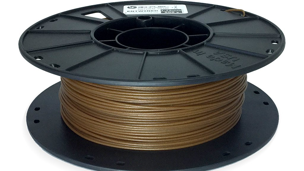 3D-Fuel hemp 3d printer filament Entwined 1.75 mm spool