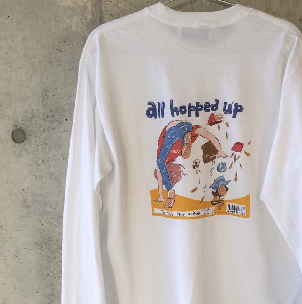 ささきなそ<br> all hopped up  Long T-shirt