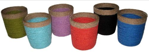 Coloured Jute Tapered Pencil Cylinder