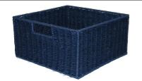 Paper Rope Blue Single Drawer