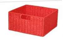 Paper Rope Red Single Drawer