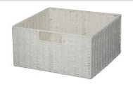 Paper Rope White Single Drawer