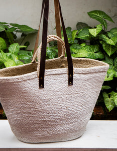 Oversized Jute Bag White