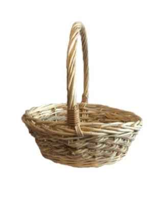 Willow & Seagrass Single Round Natural Carry Basket