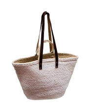 Load image into Gallery viewer, Oversized Jute Bag White