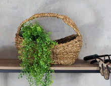 Load image into Gallery viewer, Seagrass Oval Carry Basket with Tall Handle
