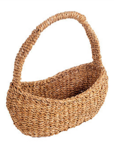 Seagrass Oval Carry Basket with Tall Handle