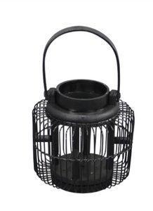 Wooden Black Straight Sided Lantern