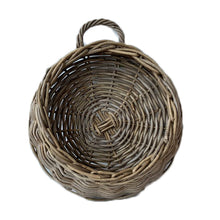 Load image into Gallery viewer, Rattan Kubu Grey Wall Planter