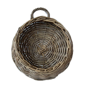 Rattan Kubu Grey Wall Planter