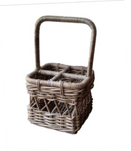Load image into Gallery viewer, Rattan Kubu Grey Wine Carrier